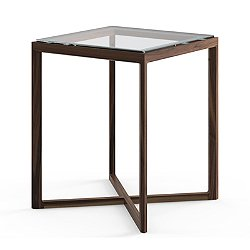 Krusin Square Tall Side Table with Glass or Laminate Table Top