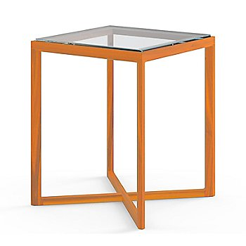Ebonized Oak base with Clear Glass