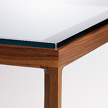 Clear Glass on American Walnut detail