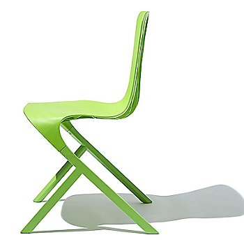 Side view of chair in Lime