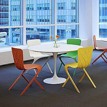 Washington Skin Nylon Chairs around Saarinen Table