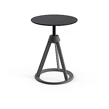 Ebonized Ash seat with Medium Metallic Grey base finish