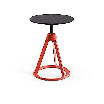 Ebonized Ash seat with Red Coral base finish