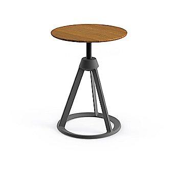Teak seat with Medium Metallic Grey base finish
