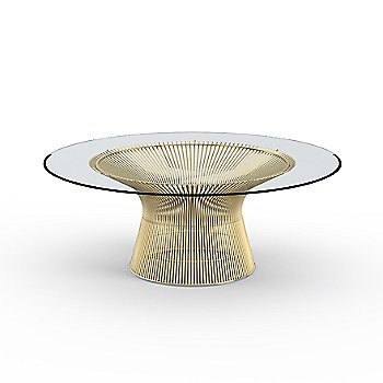 Platner 42 Inch Coffee Table in Gold