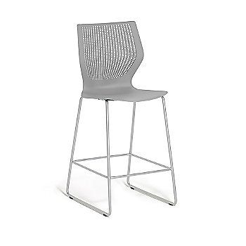 Counter Height Stool / Unupholstered in Grey Shell