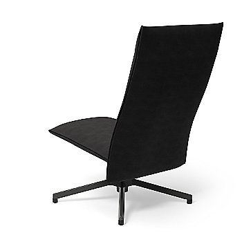 Ultrasuede Black Onyx with Dark Grey Painted Base finish / Rear view