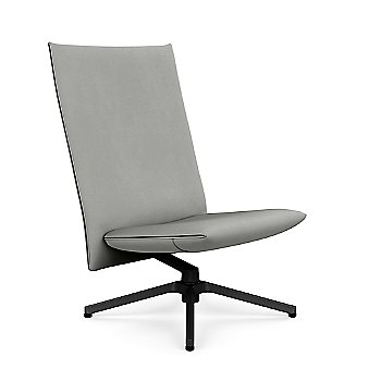 Volo Cadet Leather with Polished Aluminum base finish / Rear view