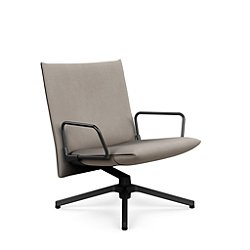 Pilot Swivel Low Back Lounge, Loop Arms