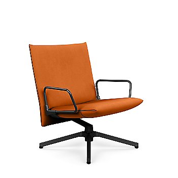 Pilot Swivel Low Back Lounge, Upholstered Arms, in use