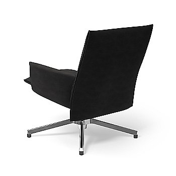 Ultrasuede Black Onyx with Polished Aluminum base finish / Rear view
