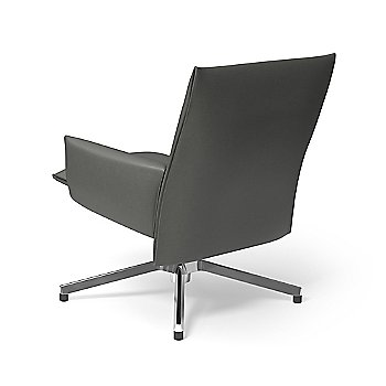 Volo Leather Cadet with Polished Aluminum base finish / Rear view