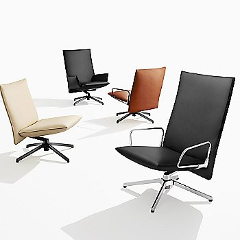 Shown with different variations of the Pilot Chair