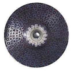 Serpentine Bronze Design on Conical Bell Vessel Sink