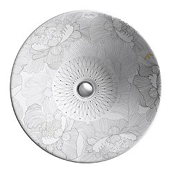 Empress Bouquet Design On Conical Bell Vessel Sink