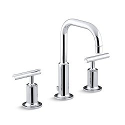 Purist Widespread Sink Faucet with Lever Handles