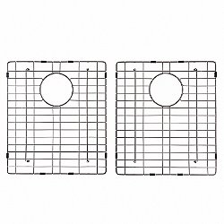 Double Bottom Sink Grid with Anti-Scratch Bumpers