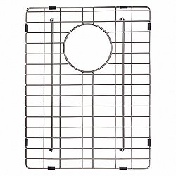 Bottom Rectangle Sink Grid with Anti-Scratch Bumpers