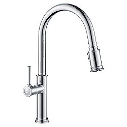 Sellette Single Handle Pull Down Kitchen Faucet with Dual Function Sprayhead