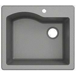 Quarza Dual Mount Granite Kitchen Sink