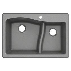 Quarza Dual Mount 60/40 Granite Kitchen Sink