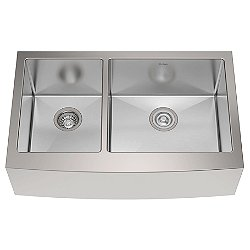 33 Inch 60/40 Double Bowl Farmhouse Kitchen Sink