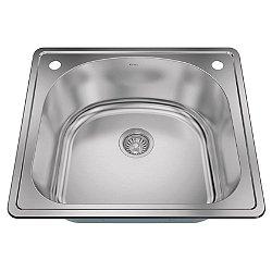 25 Inch Drop-In Single Blow Kitchen Sink
