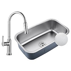 Outlast Microshield Undermount Sink with Nola Single Handle Pull Down Faucet
