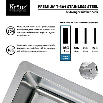 Premium T-304 Stainless Steel