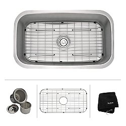 31.5 Inch Undermount Single Bowl 16 Gauge Stainless Steel Kitchen Sink