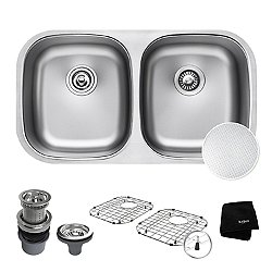 Outlast Microshield 50/50 Double Bowl Undermount Kitchen Sink