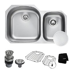 Outlast Microshield 60/40 Double Bowl Undermount Kitchen Sink KBU23E