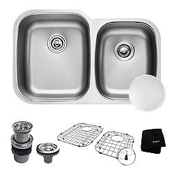 Outlast Microshield 60/40 Double Bowl Undermount Kitchen Sink KBU24E