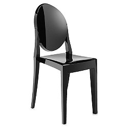 Victoria Ghost Chair (Opaque Glossy Black) - OPEN BOX RETURN