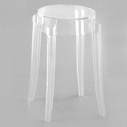 Charles Ghost Stool (Crystal/Low) - OPEN BOX RETURN