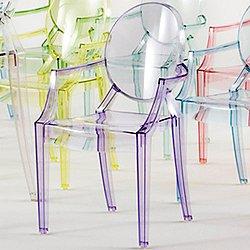 Lou Lou Ghost Child's Armchair (Transparent Lilac)-OPEN BOX
