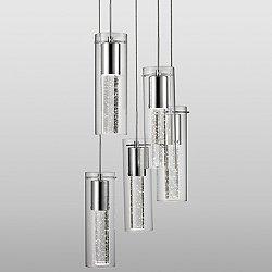 Champagne LED Multi Light Pendant Light