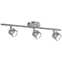 Modern LED Single Fixed Track Fixture (Nickel/3) - OPEN BOX