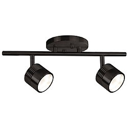 Modern LED Single Fixed Track Fixture (Bronze/2) - OPEN BOX