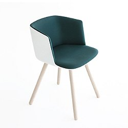 Cut Armchair, Wood Base