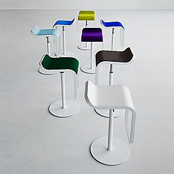LEM Height Adjustable Bar Stool, Powder Coated