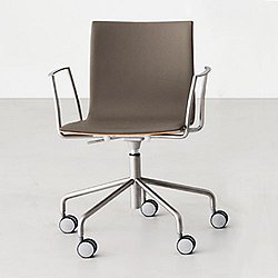Thin Task Chair With Arms