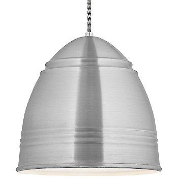 Shown in Brushed Aluminum White Interior black white cord