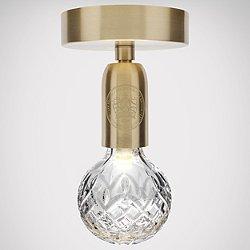 Crystal Bulb LED Semi-Flush Mount Ceiling Light