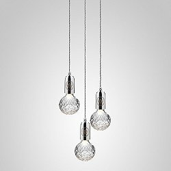 Crystal Bulb LED Multi-Light Pendant Light