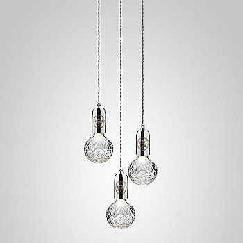 Clear Crystal / Polished Chrome finish / 3 light