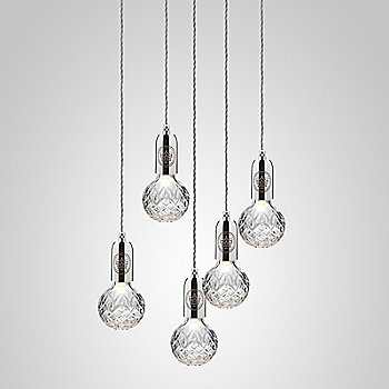Clear Crystal / Polished Chrome finish / 5 light