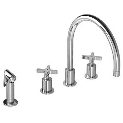 Kafka 4-Hole Kitchen Faucet with Pull-Out Handspray