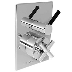 XO Zu Cross Handle Thermostatic Trim with Lever Flow Control
