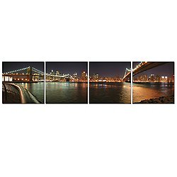 Bridges of New York Mounted Quadriptych Art Print